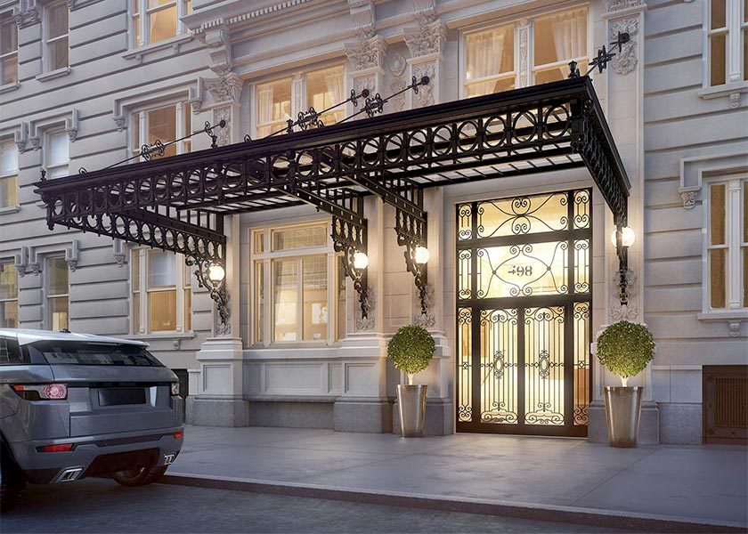 Architectural Rendering of the exterior of the 498 West End Avenue project located on Manhattan's Upper West Side, New York City