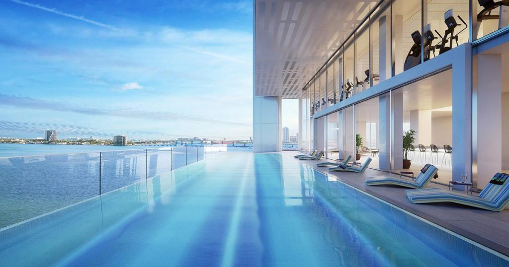 Architectural Rendering of the exterior of the Missoni Baia project located in Miami, Florida