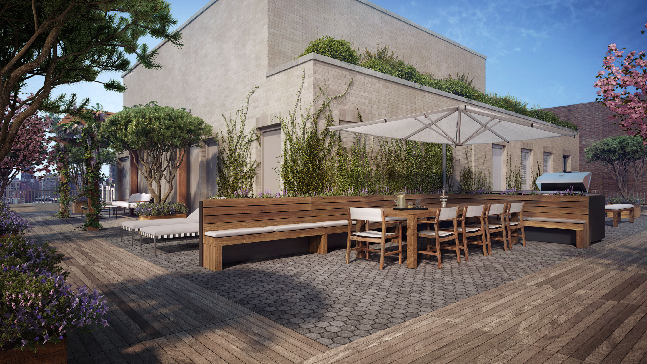Architectural Rendering of the rooftop of the 207 West 79th Street project located on the Upper West Side, New York City