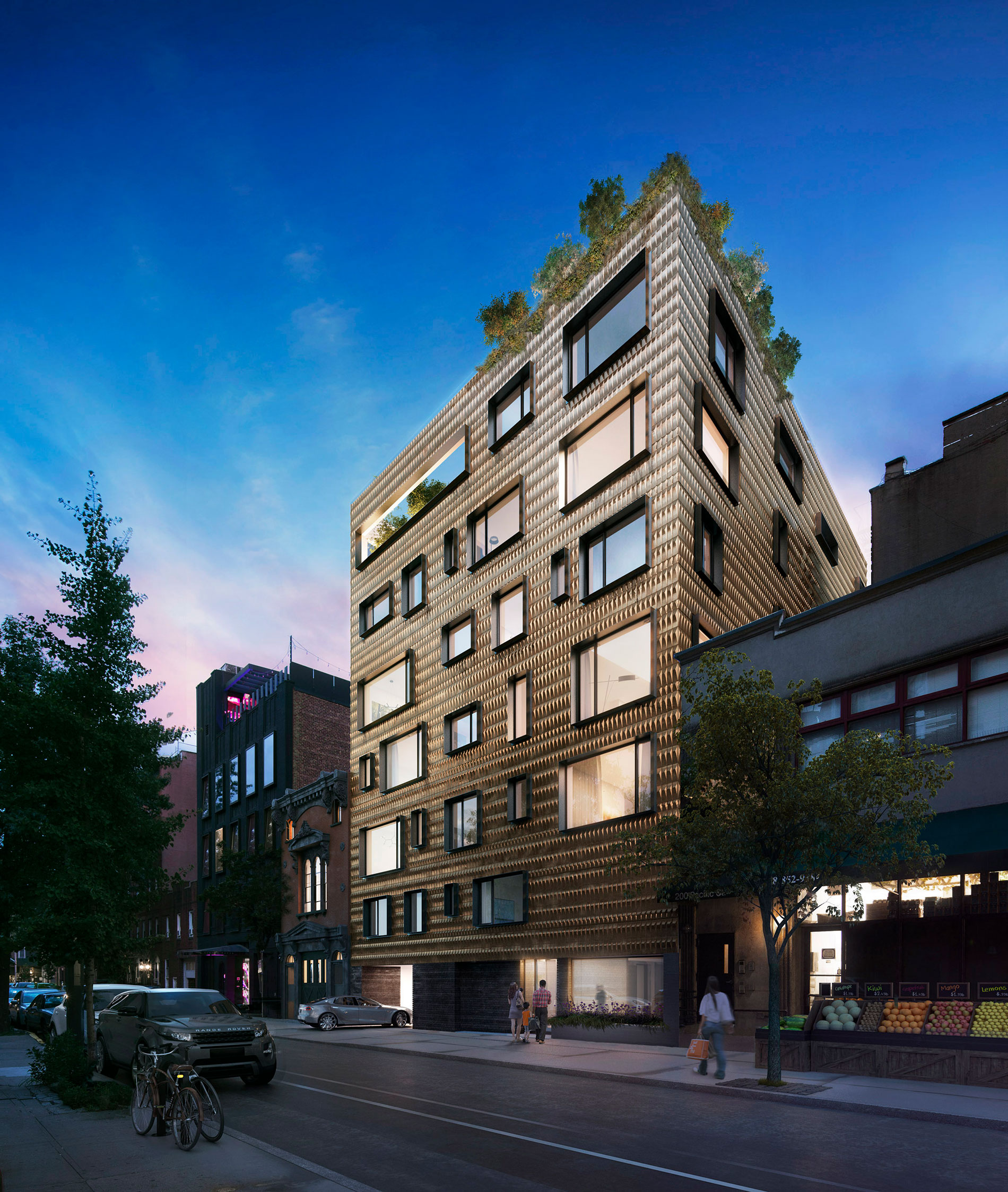 Architectural Rendering of the exterior of the 210 Pacific Street project located in Brooklyn, New York