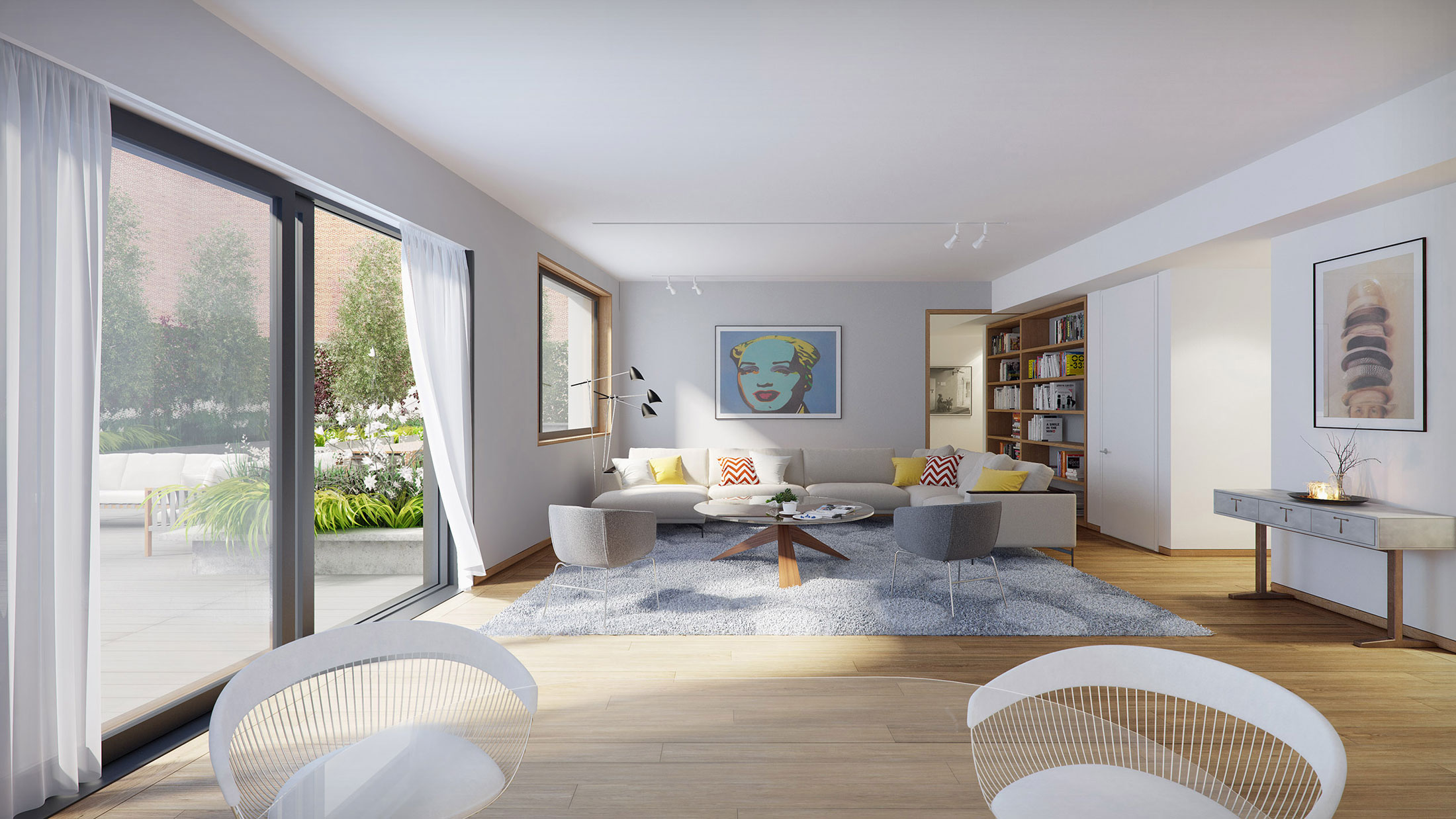 Architectural Rendering of the interior of the 210 Pacific Street project located in Brooklyn, New York