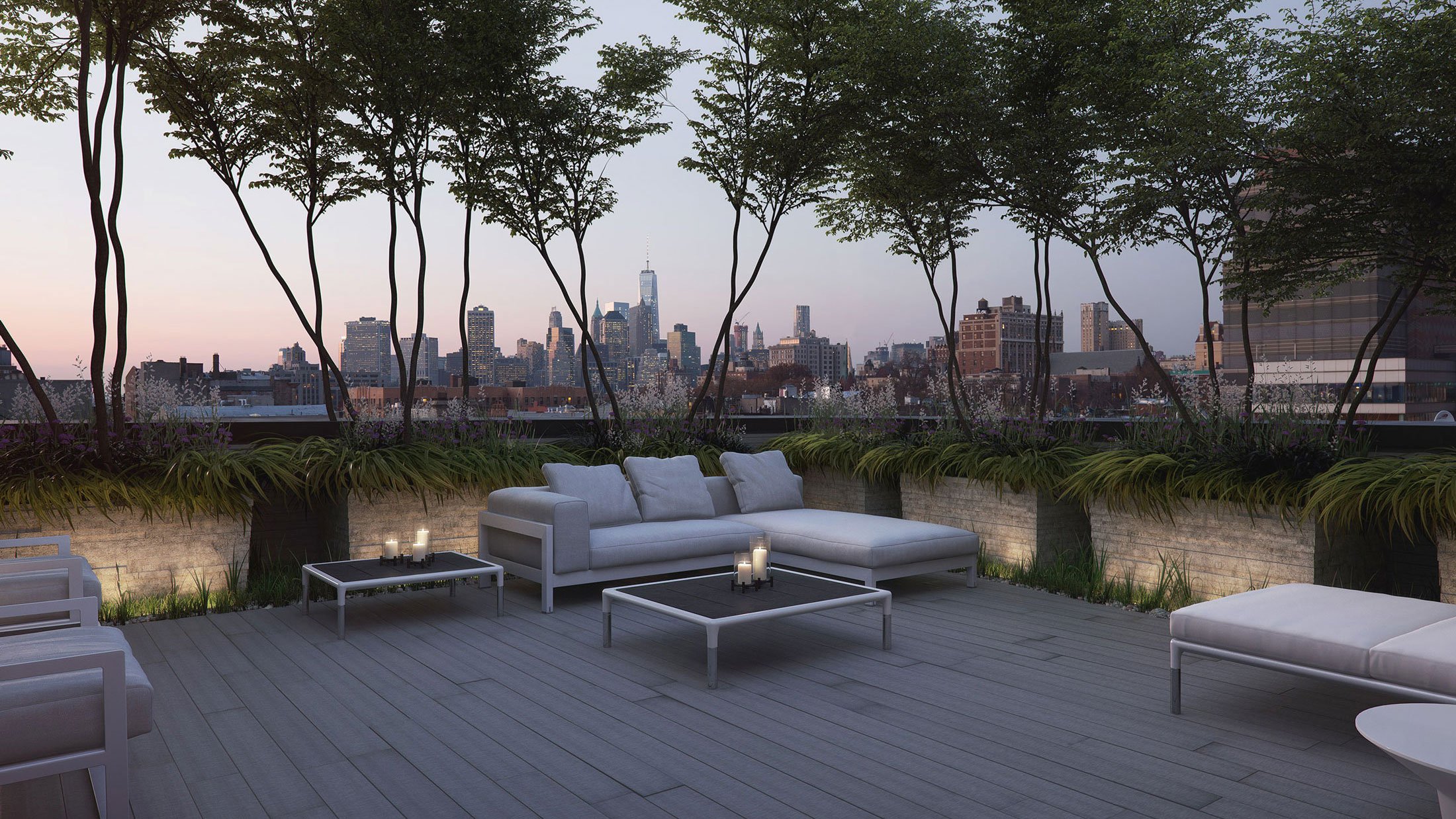 Architectural Rendering of the rooftop of the 210 Pacific Street project located in Brooklyn, New York
