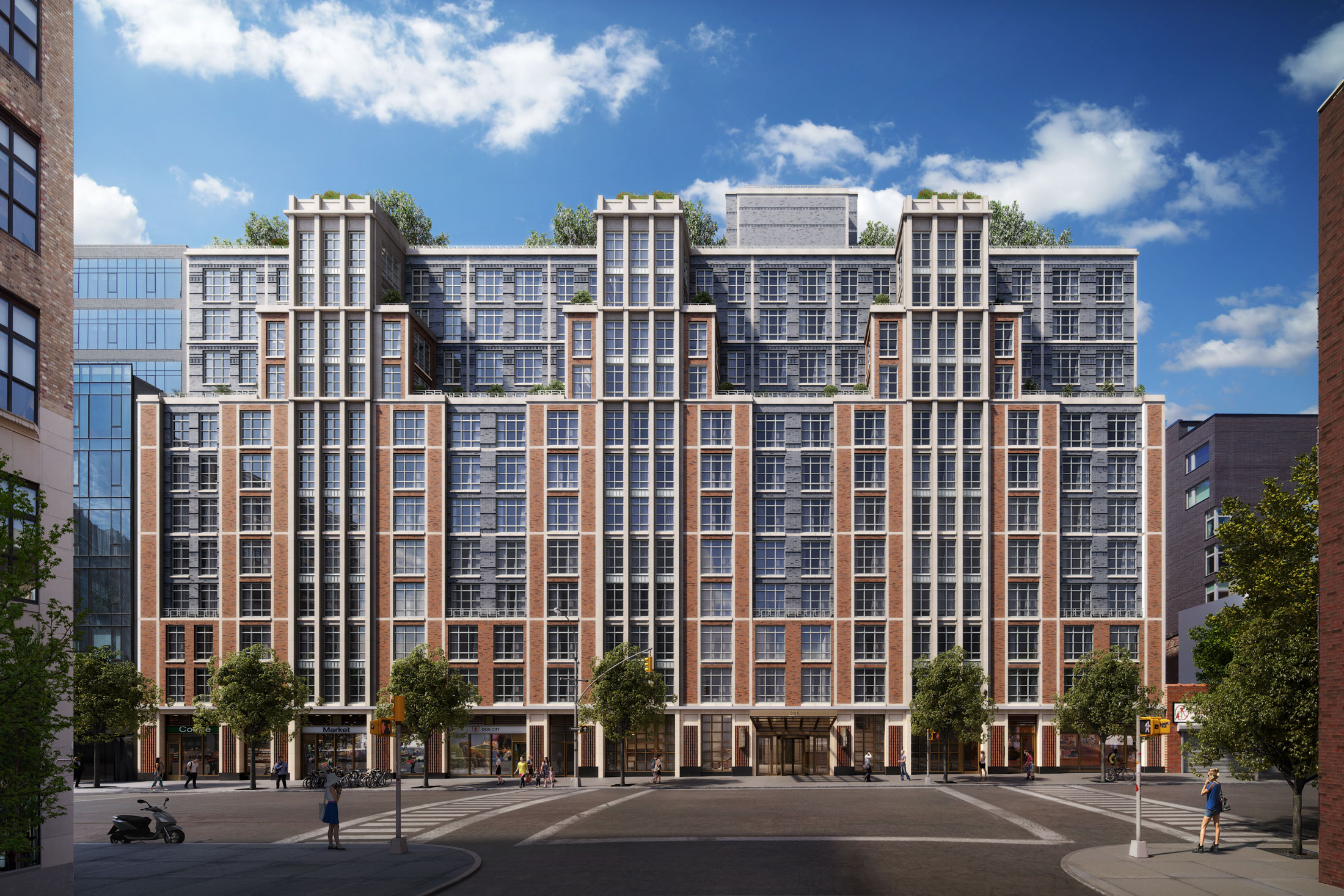 Architectural Rendering of the exterior of the 261 Hudson project located in West Soho, New York City