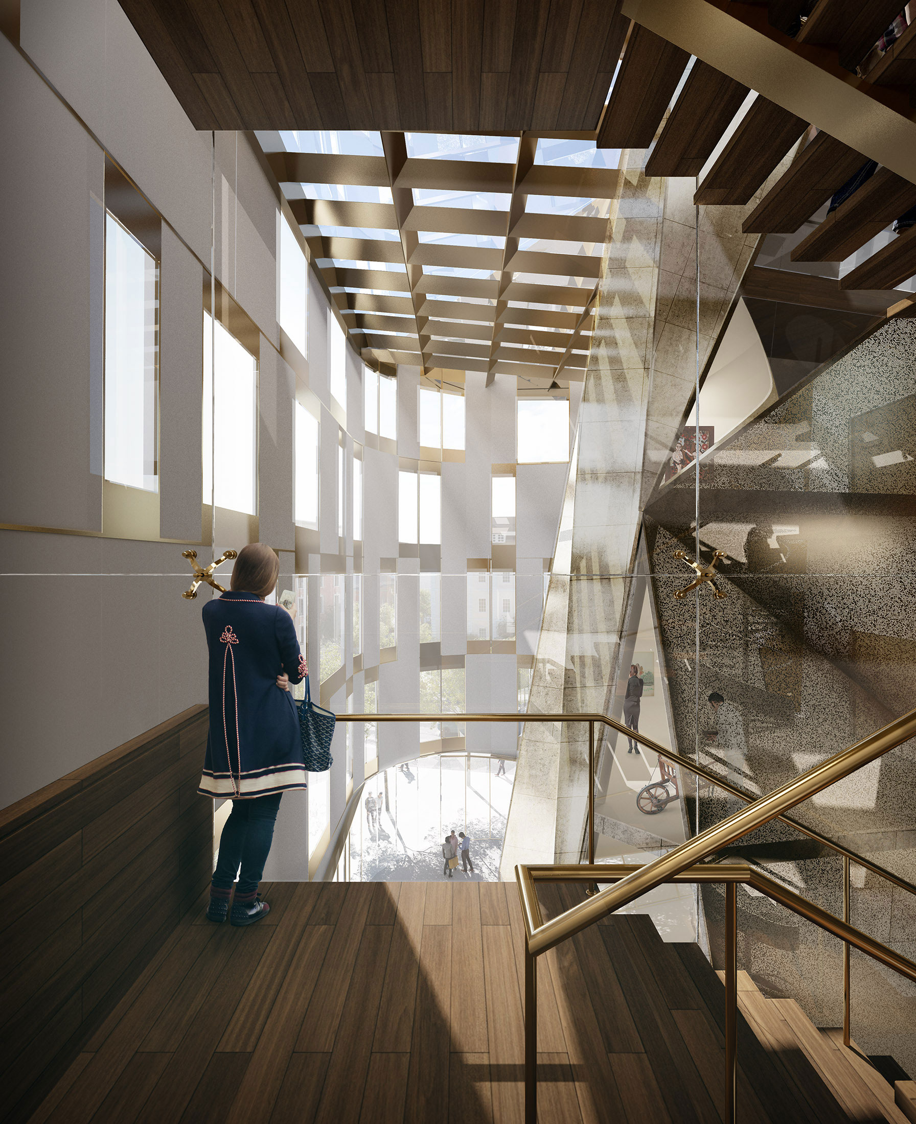 Architectural Rendering of the interior of the Museum of Ethnography located in Budapest, Hungary