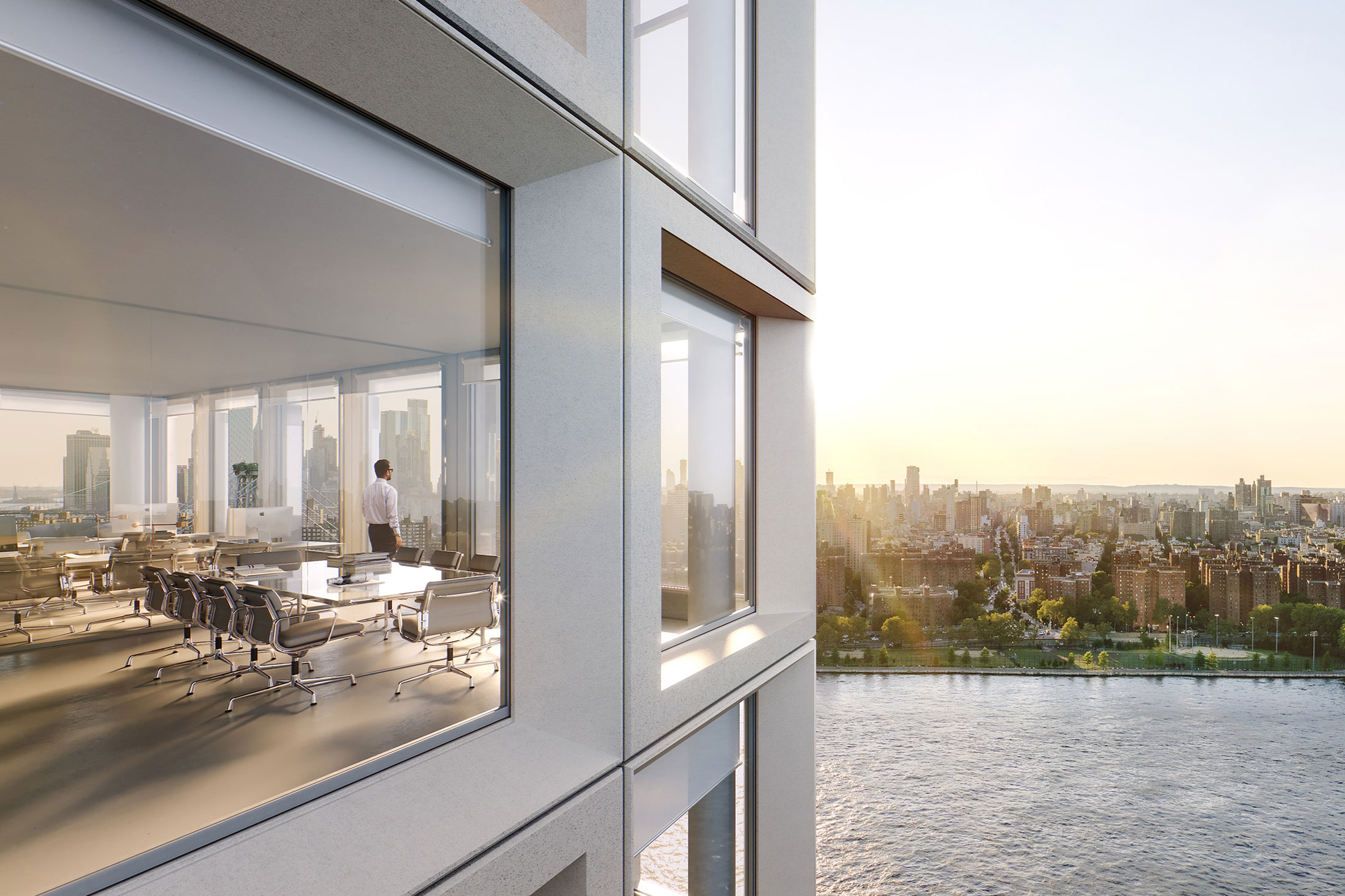 Architectural Rendering of the exterior of the Ten Grand Street project located in Brooklyn, New York