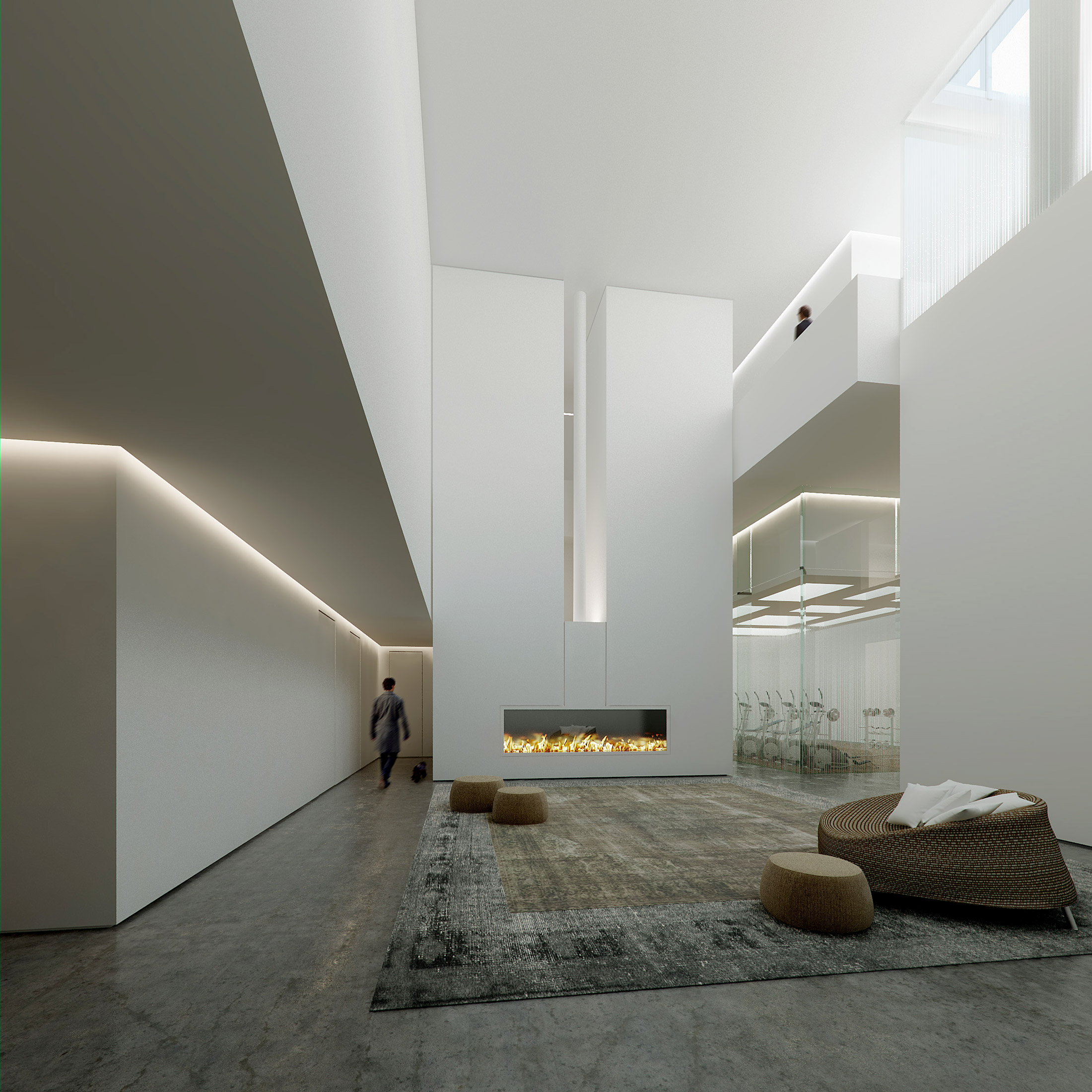 Architectural Rendering of the interior of the 100 Norfolk Street project located on the Lower East Side, New York City