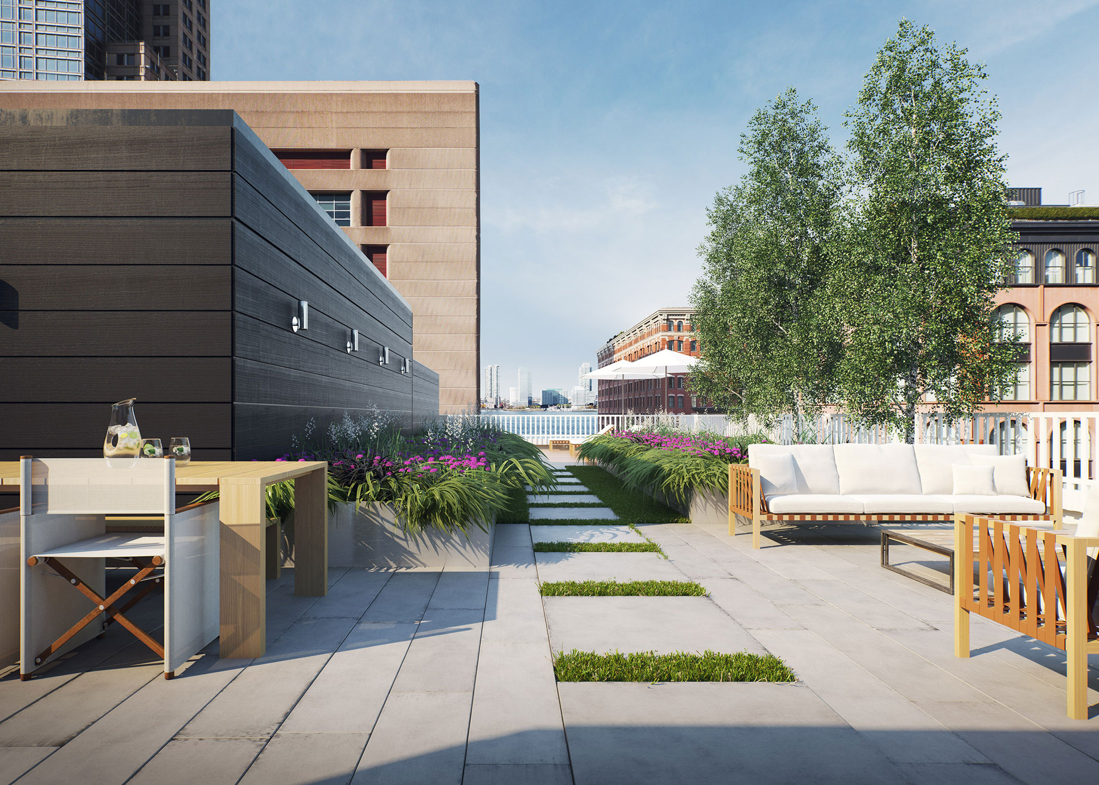 Architectural Rendering of the rooftop of the 15 Hubert Street project located in Tribeca, New York City