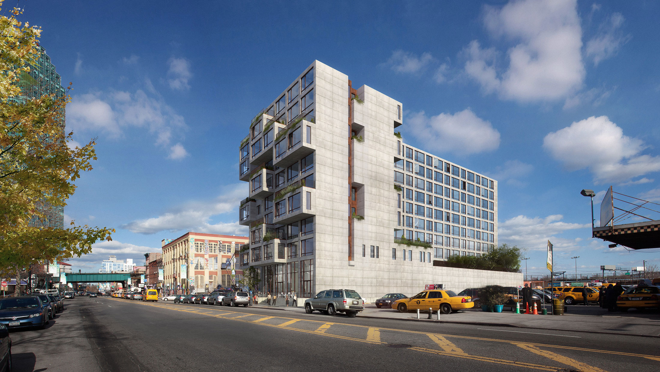 Architectural Rendering of the exterior of the 22-22 Jackson Avenue project located in Long Island City, Queens, New York