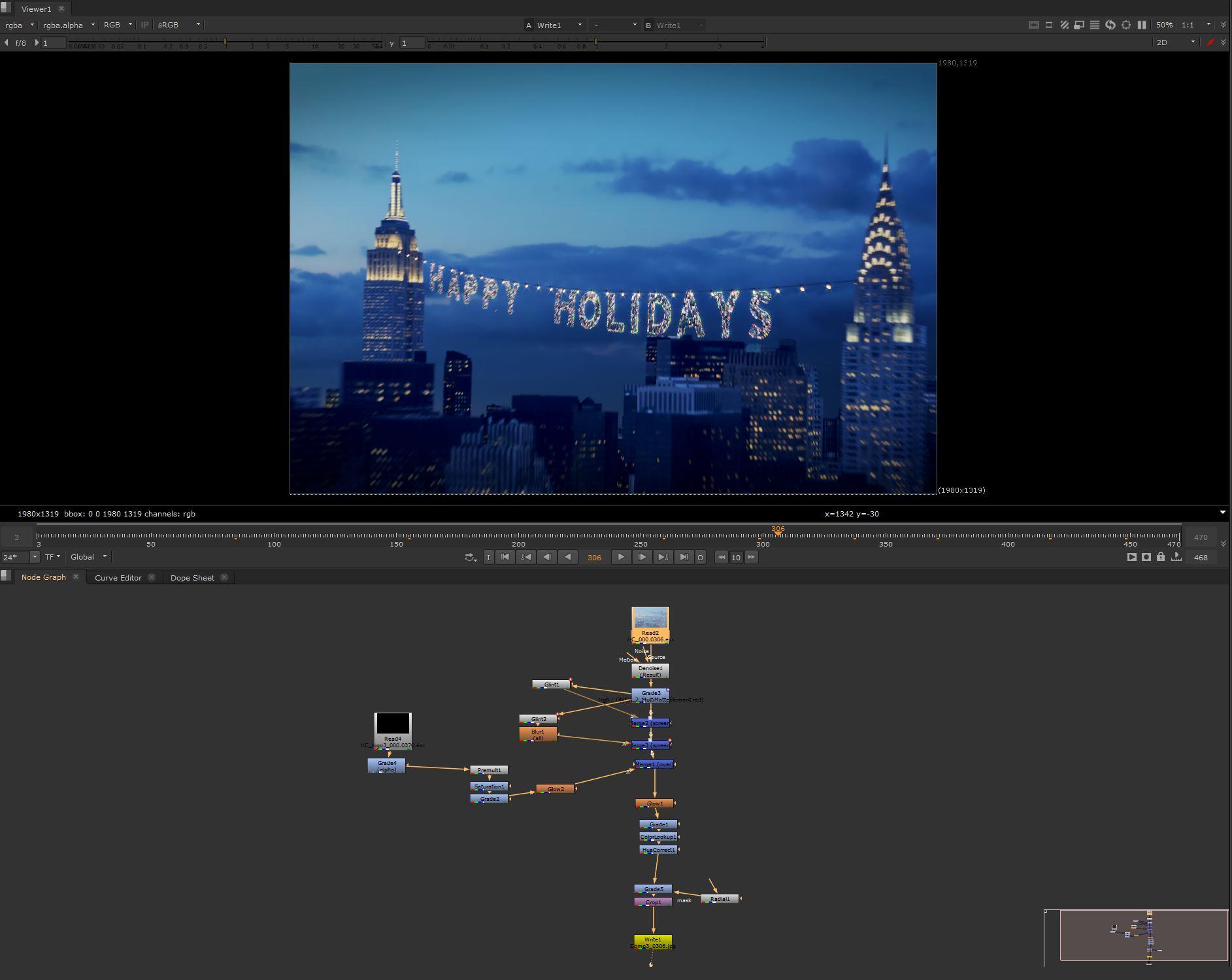 MOSO Studio Holiday card 2016 nuke
