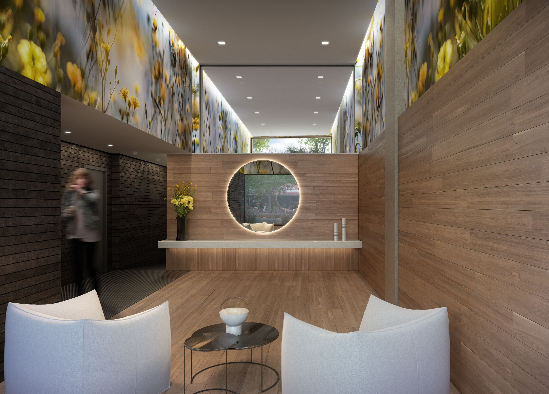 Architectural Rendering of the lobby of the 210 Pacific Street project located in Brooklyn, New York