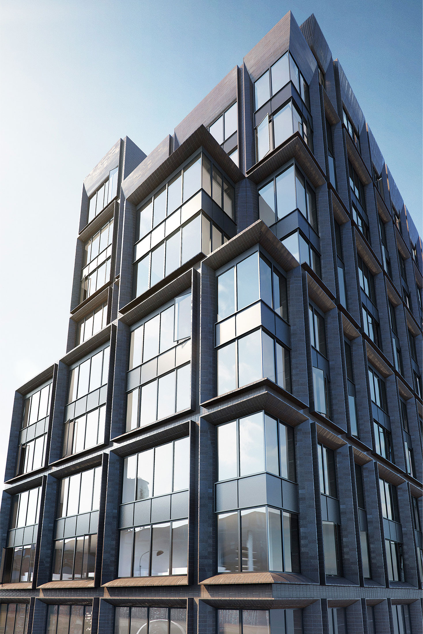 Architectural Rendering of the exterior of the 5 Franklin Place project located in Tribeca, New York City