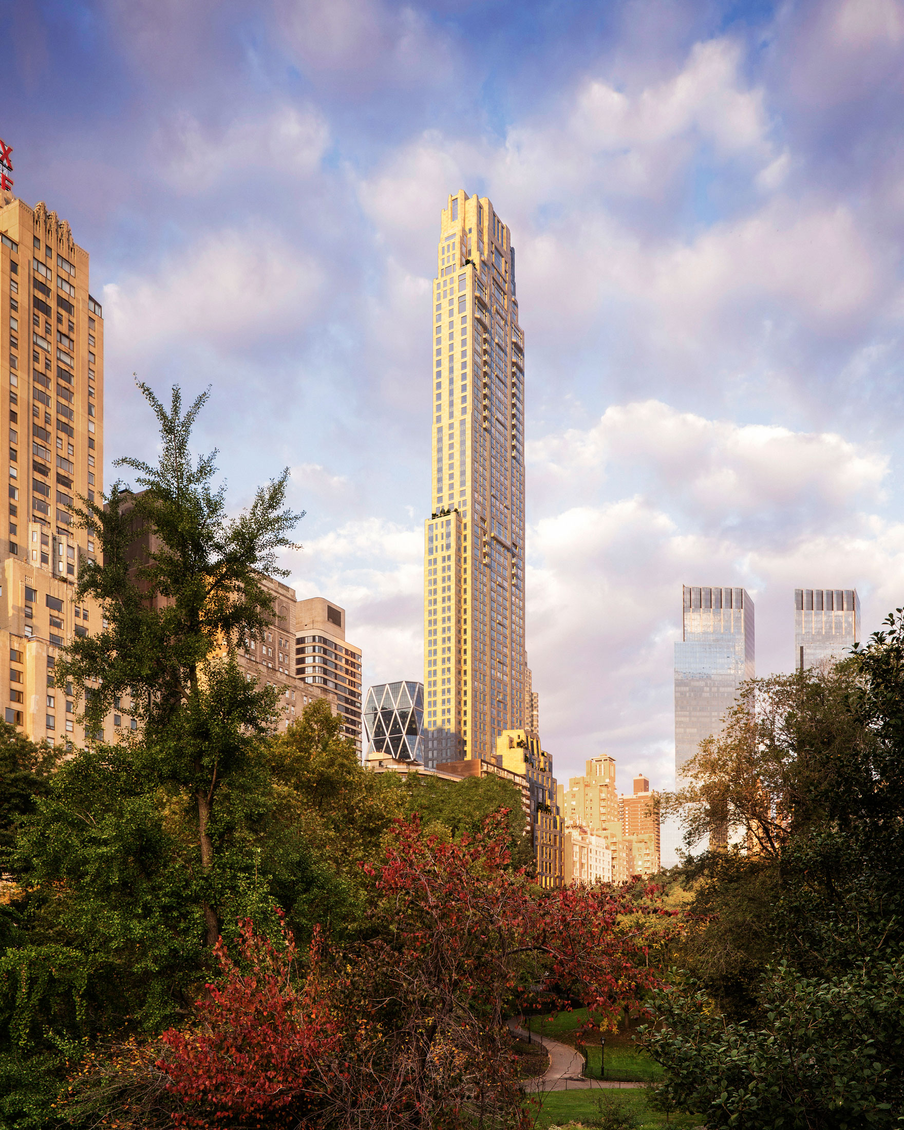 Architectural Rendering of the exterior of the 220 Central Park South project located in Midtown, New York City