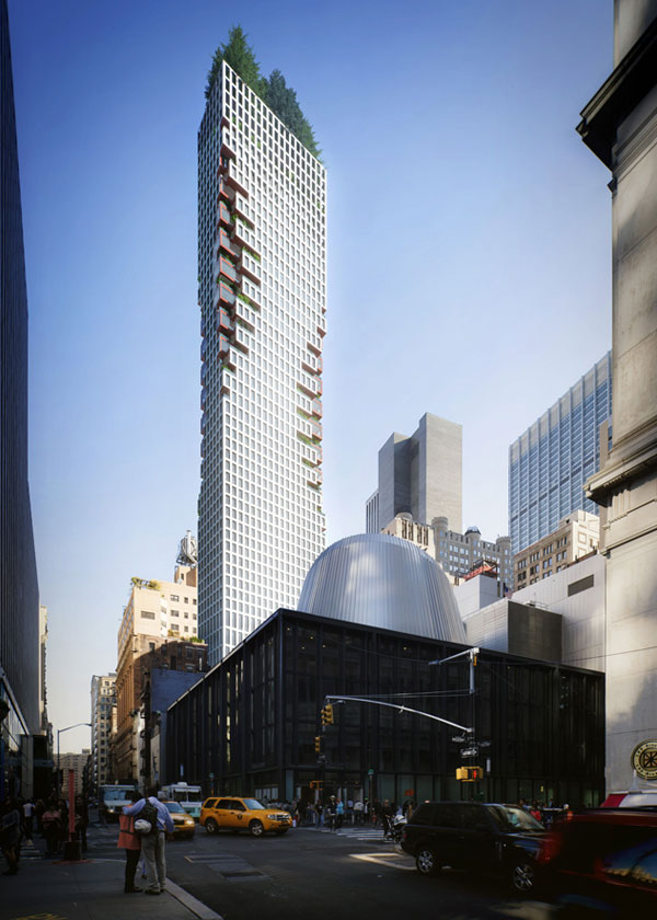 Architectural Rendering of the exterior of the 75 Nassau Street project located in the Financial District, New York City