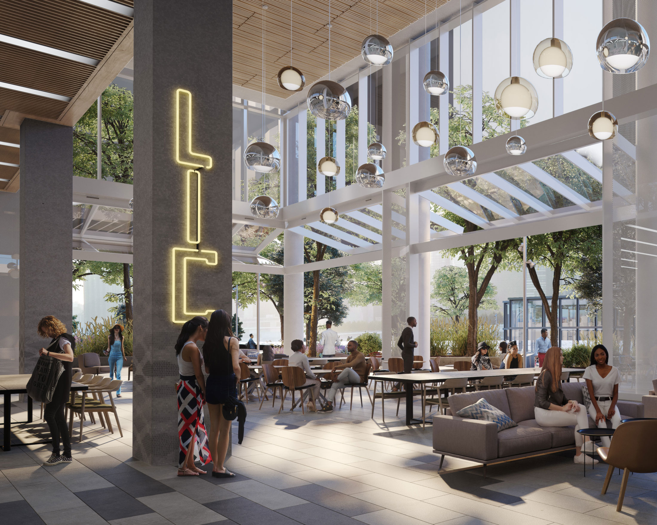 Architectural Rendering of an interior detail of the Anable Basin project located in Long Island City in Queens, New York