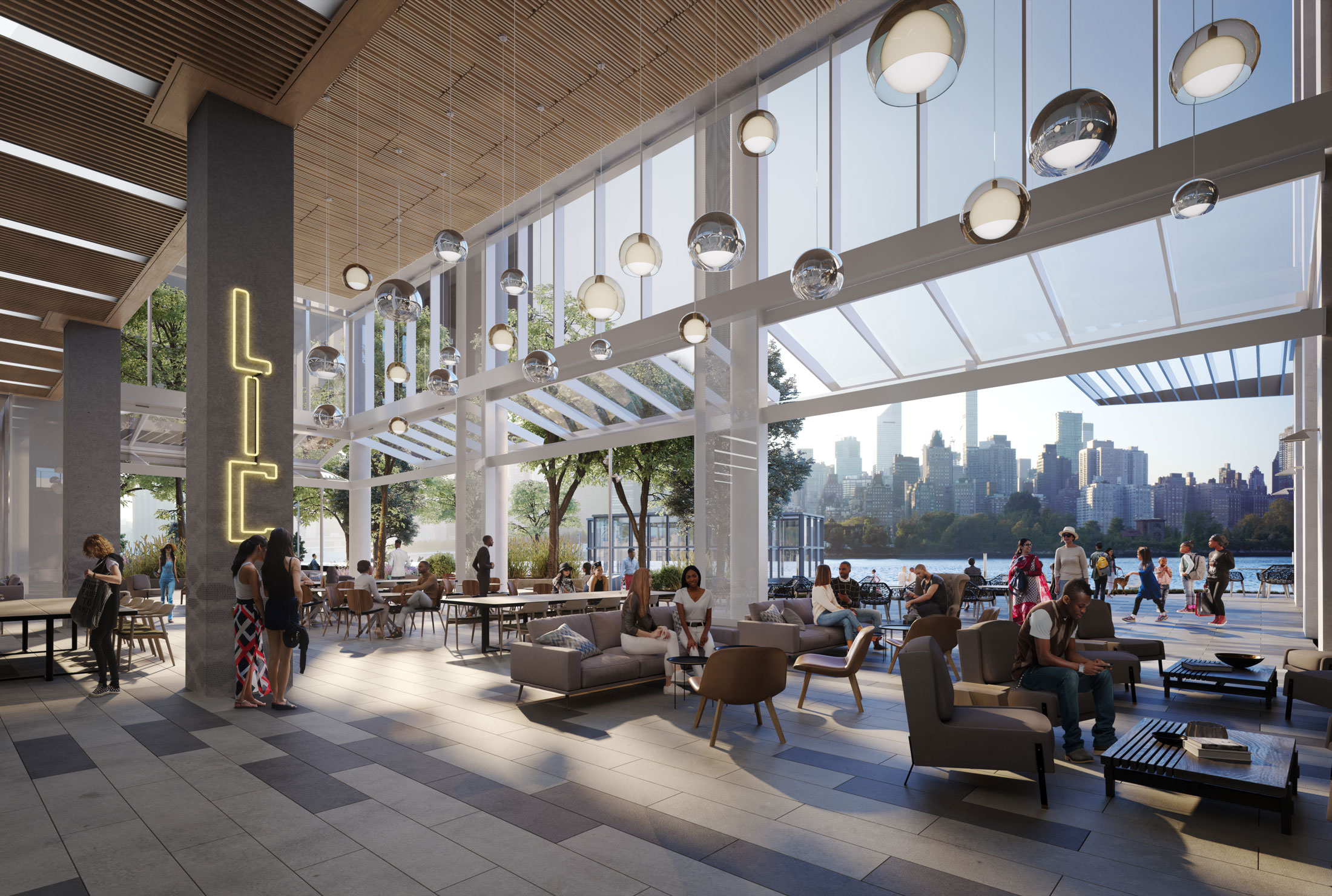 Architectural Rendering of the interior of the Anable Basin project located in Long Island City in Queens, New York