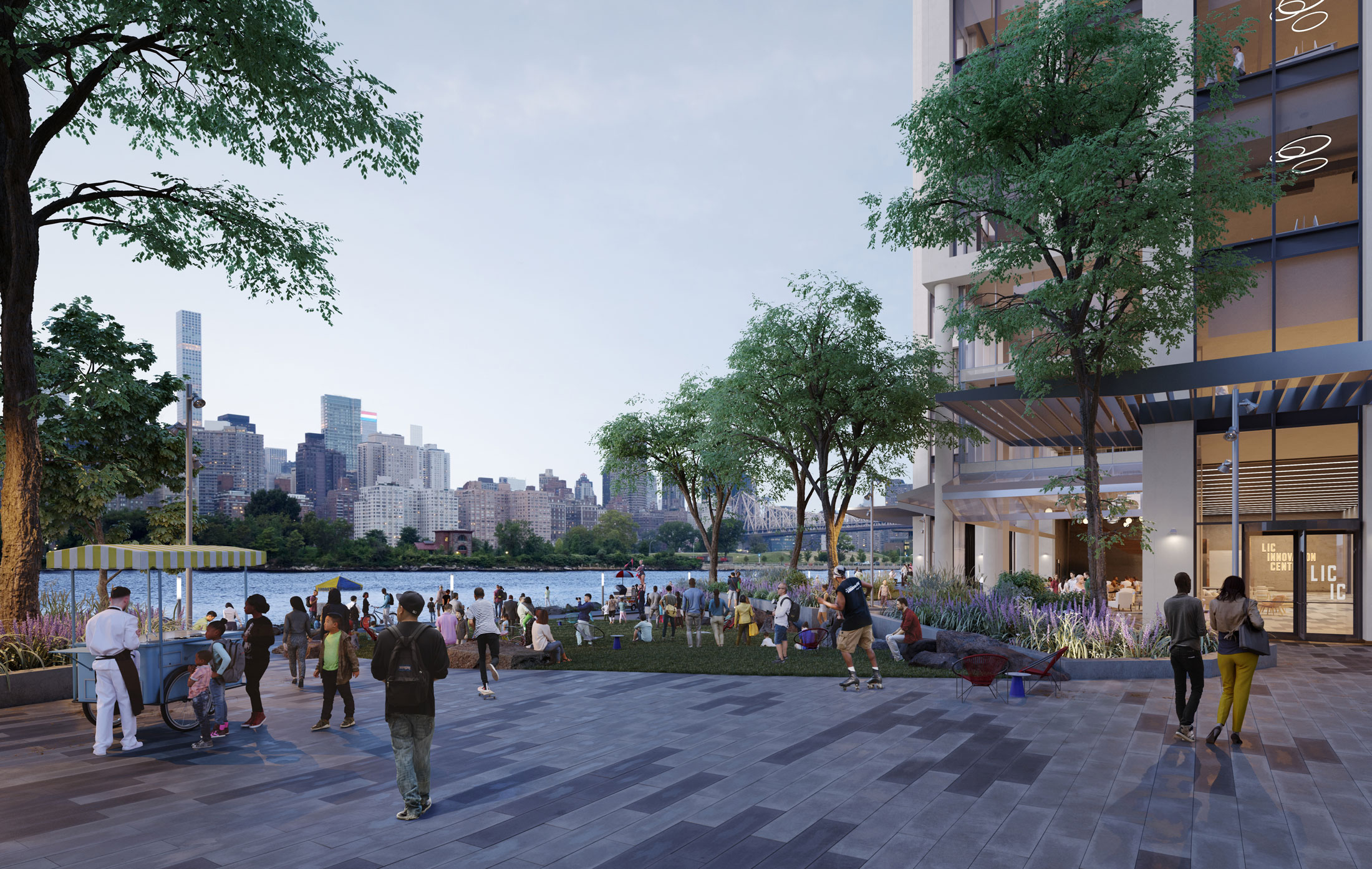 Architectural Rendering of the exterior of the Anable Basin project located in Long Island City in Queens, New York