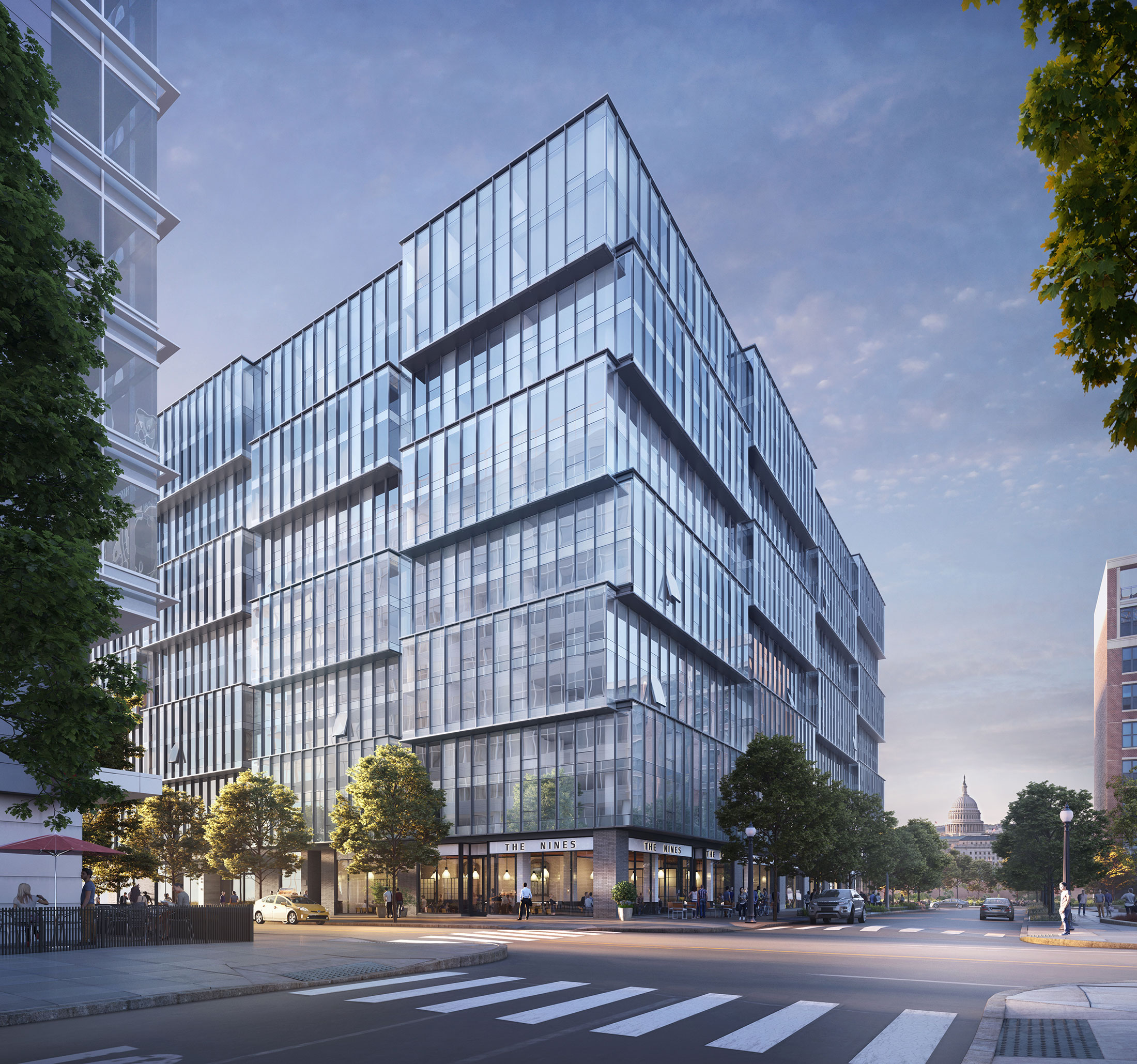 Architectural Rendering of the exterior of the One Hill South project located in Washington, DC