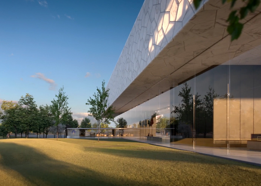 Architectural Rendering for the design competition of the National Medal of Honor Museum located in Arlington, Texas