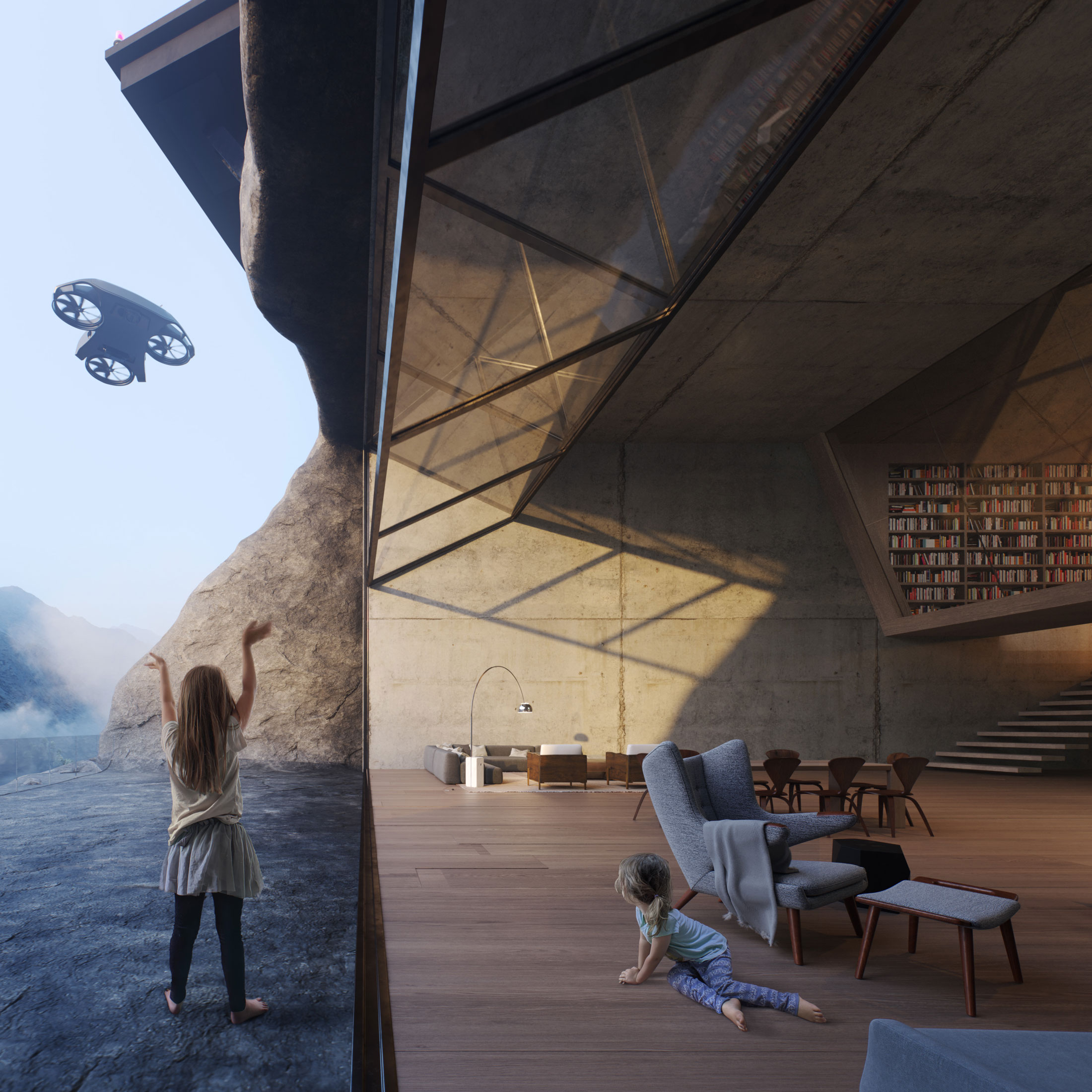 Architectural Rendering for the Paramo film made by Moso Lab