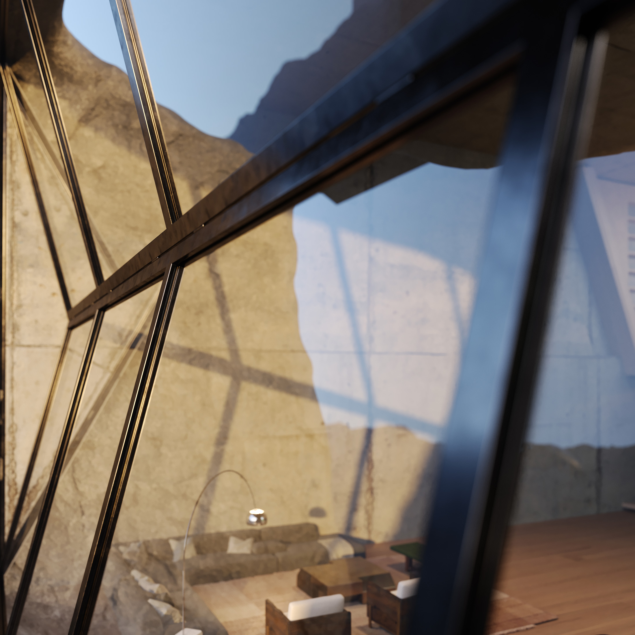Detail of an Architectural Rendering for the Paramo film made by Moso Lab