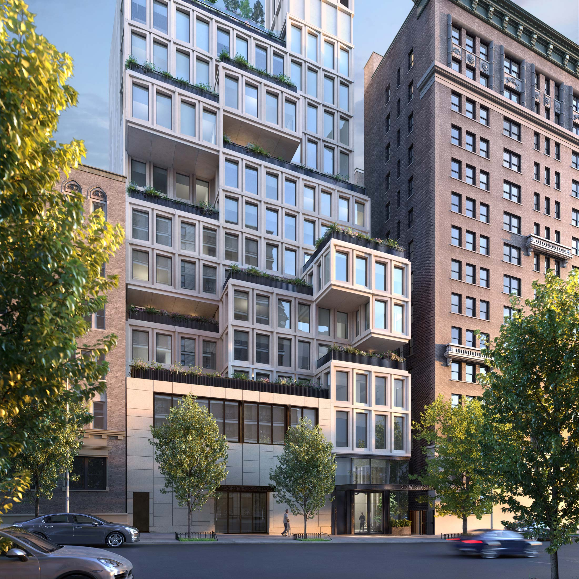 Architectural Rendering of the exterior of the 212W93 project located on the Upper West Side, New York City