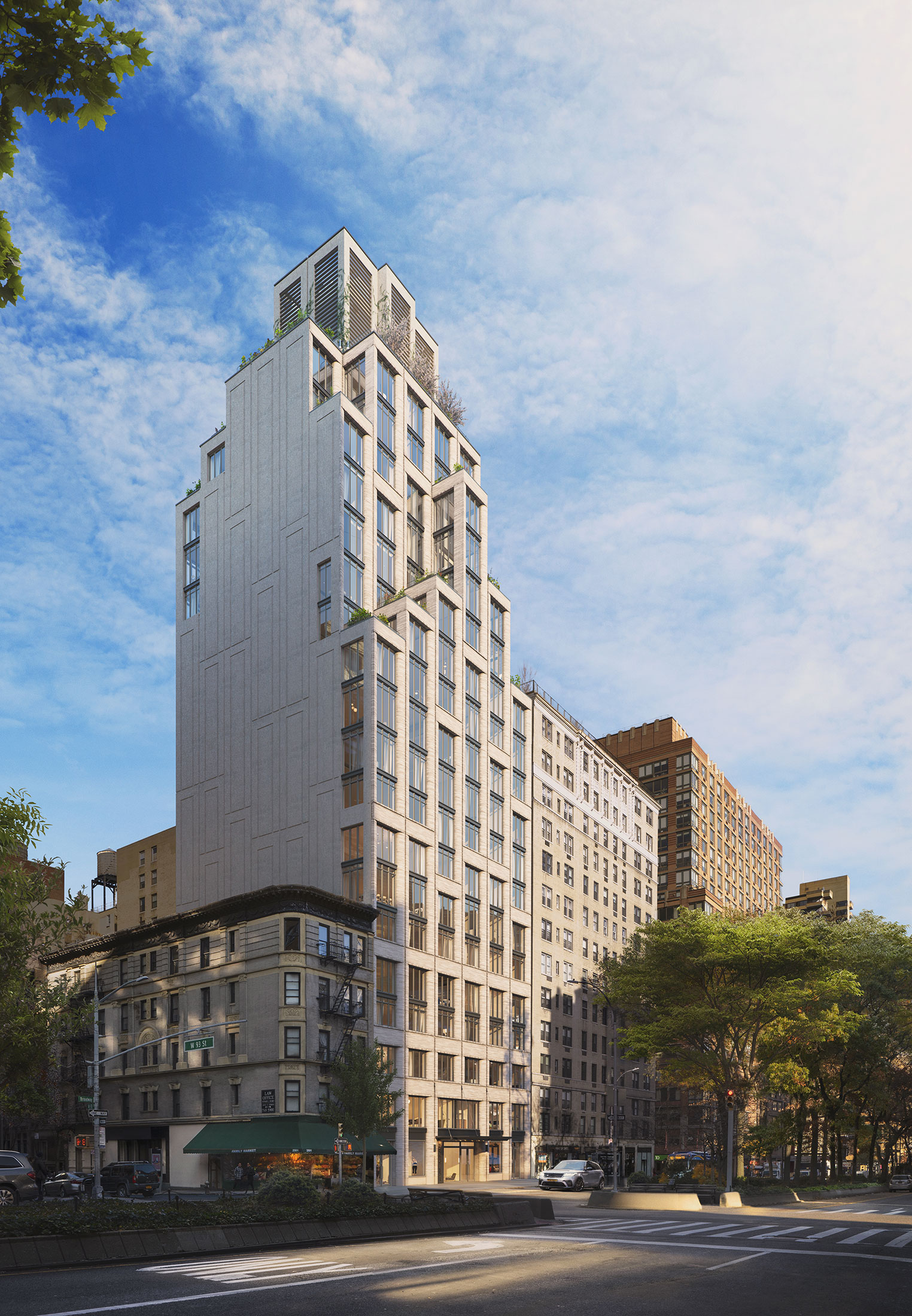 Architectural Rendering of the exterior of the 2505 Broadway building project located on the Upper West Side in New York City