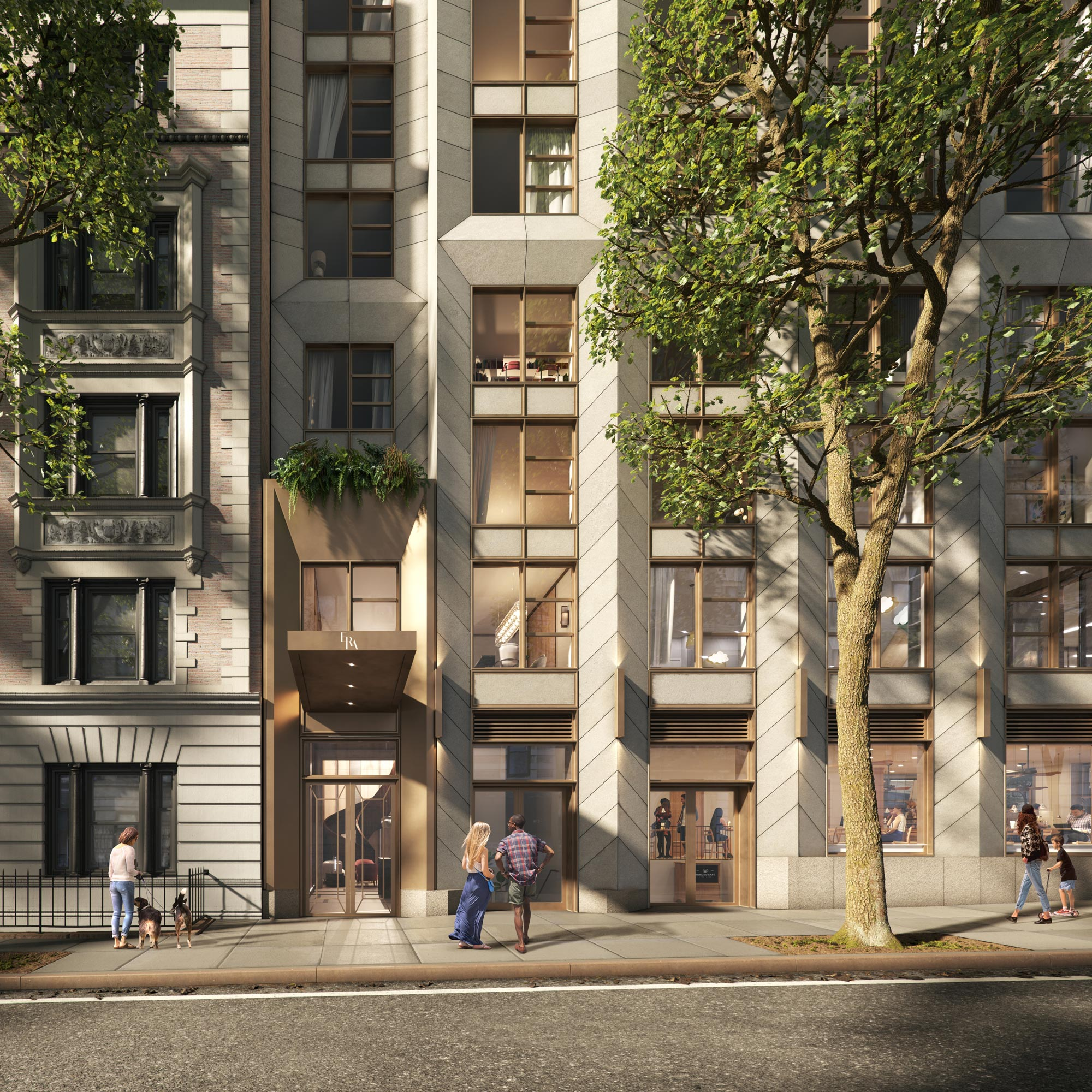 Architectural Rendering of the exterior of the ERA building project located on the Upper West Side in New York City